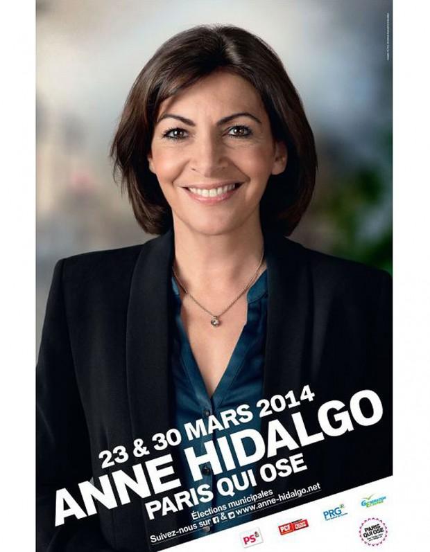 L'affiche de campagne d'Anne Hidalgo est-elle photoshoppée ?