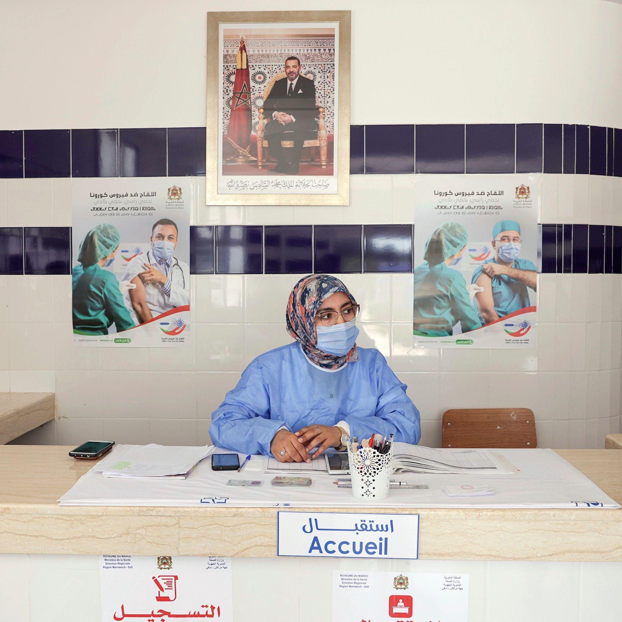 Maroc Les Femmes Derriere Le Succes De La Campagne De Vaccination Elle