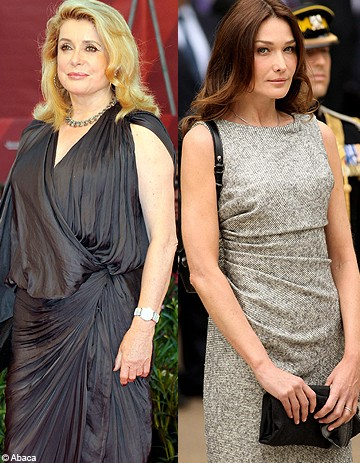sakineh catherine deneuve s en prend carla bruni sarkozy elle. Black Bedroom Furniture Sets. Home Design Ideas
